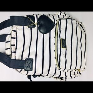 Betsey Johnson Backpack Black & White Stripes